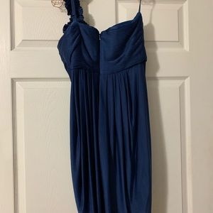 BCBG one shoulder blue dress